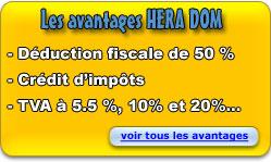 Les avantages HERA DOM : déduction fiscale de 50% - Crédit d'impôts - TVA à 5,5%